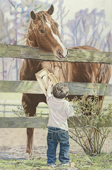 Friendship - Helen Bailey - Colored Pencil