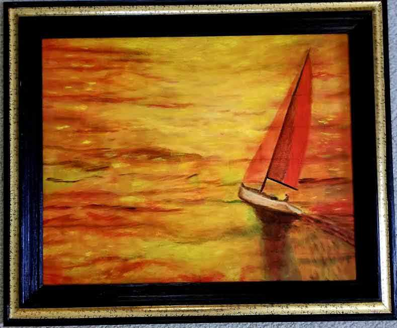 """Sail Away"" Oil 20x16"