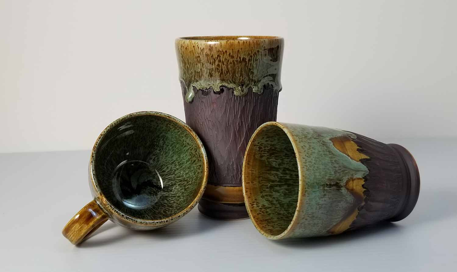 Ceramic Cups, porcelain‑hybrid clay