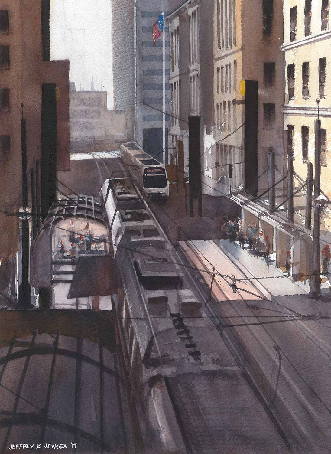 """St. Paul Station"", Watercolor 10"" x 14"""