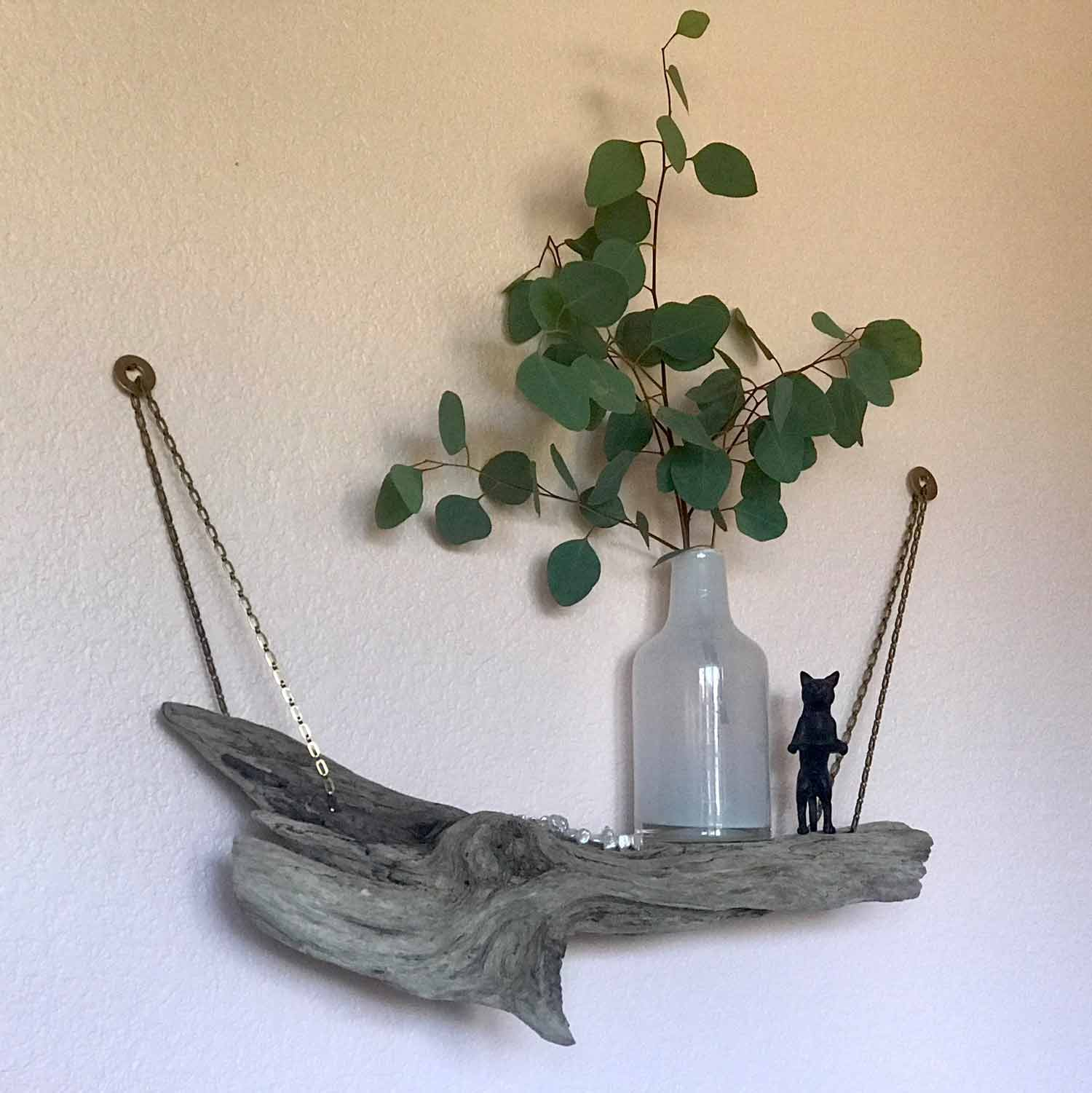 Hanging Driftwood Shelf