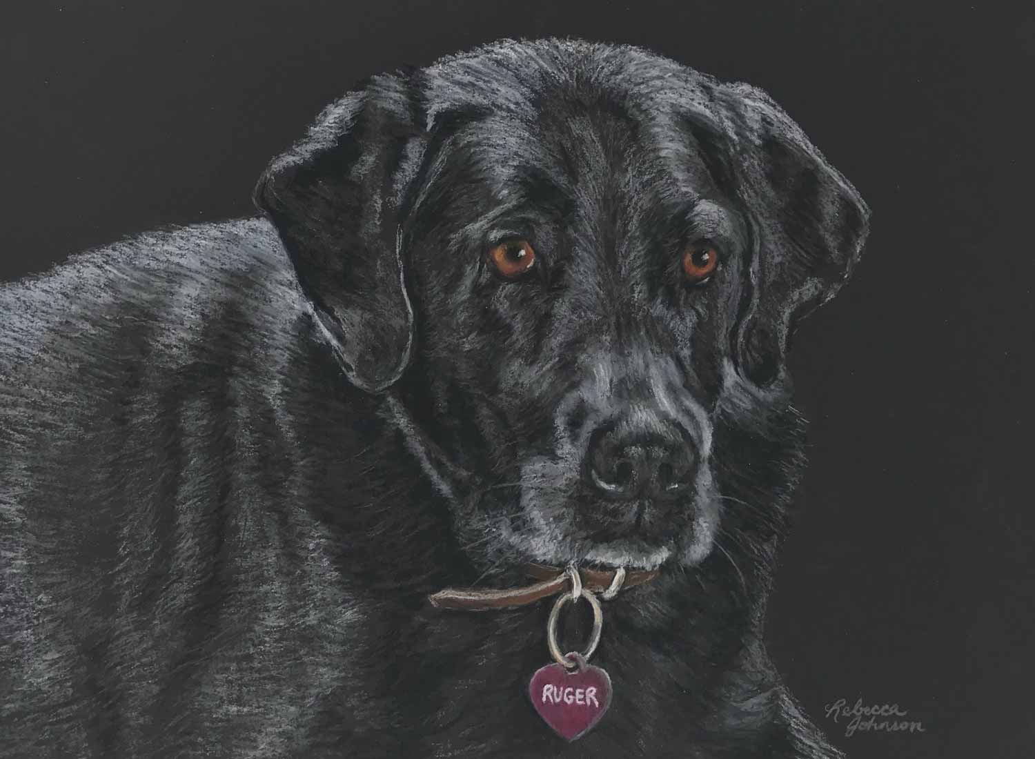 Ruger, Pastel Pencil, 9 x 12