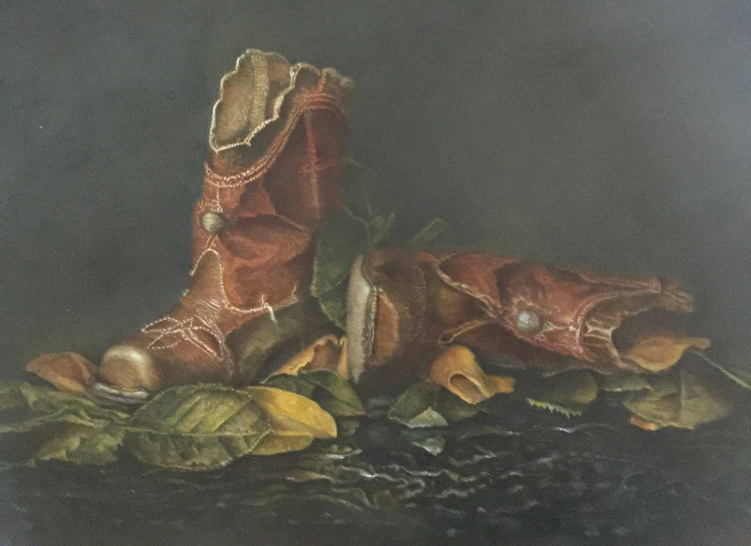 Duke's Boots: Acrylic on board