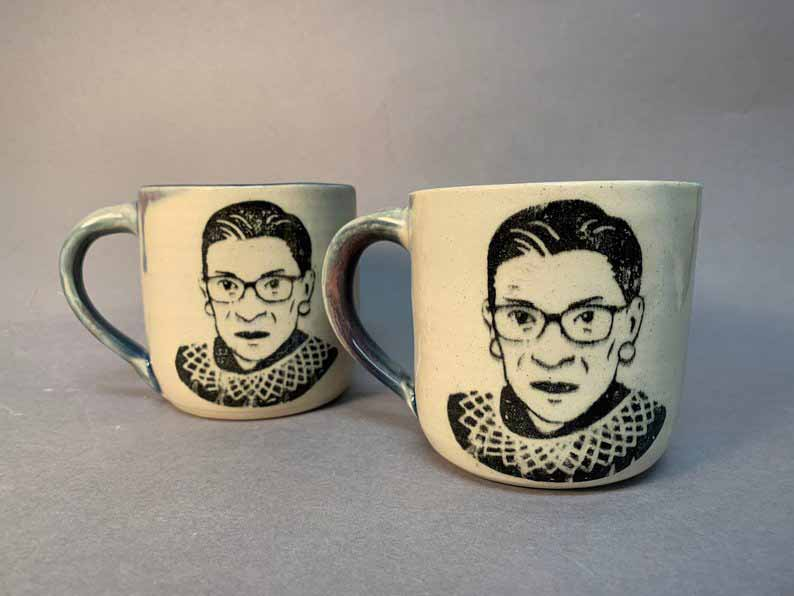 Stephanie Kaminer Ceramic RBG Mugs