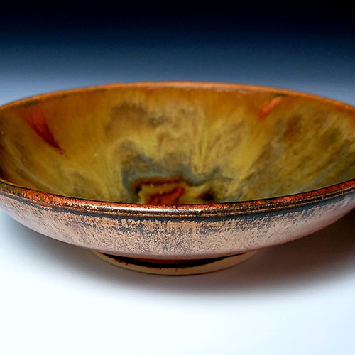 """Copper Fire,"" Ceramics, Mini Bowl"